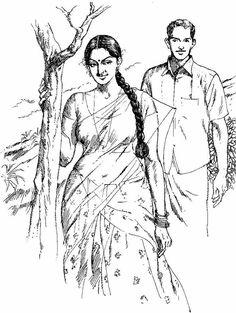 Best line art woman sketch Ideas Indian Women Painting, Indian Art Paintings, Sexy Painting, Painting & Drawing, Indian Drawing, Bff Drawings, Hummingbird Art, Woman Sketch, Figure Sketching