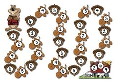 Here's a fall-themed game for recognizing numbers 1-6.