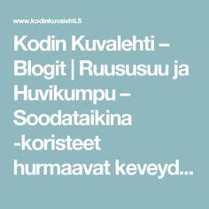 Kodin Kuvalehti – Blogit | Ruususuu ja Huvikumpu – Soodataikina -koristeet hurmaavat keveydellään. Tee itse kauneimmat kuusenkoristeet!