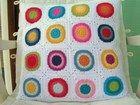 Funda cojín circulos multicolor