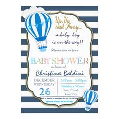 #Hot Air Balloon Baby Shower Invitation - #wednesday #wednesdays