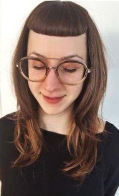Bang 3, Short Bangs, Glasses, Fashion, Short Fringe, Eyewear, Moda, Eyeglasses, Fashion Styles