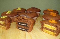 Cup cakes διπλογεμιστά