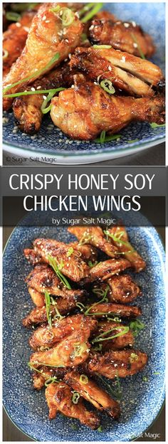 Crispy Honey Soy Chicken Wings via @sugarsaltmagic