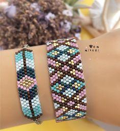 Peyote Patterns, Beading Patterns, Herringbone Necklace, Bead Loom Bracelets, Bracelet Tutorial, Loom Beading, Bead Earrings, Bead Weaving, Handmade Bracelets