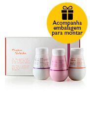 Presente Natura Aquarela - Minilápis para Olhos + Batom + Top Coat + Nécessaire + Embalagem   Rede Natura