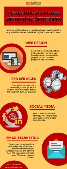 4 Effective Strategies offered by Digital Marketing Agency Sydney Netstripes affordable web solutions have transformed the way small businesses build their digital presence forever. Email Marketing, Digital Marketing, Web Design Company, Seo Services, Online Business, Sydney, Social Media, Website Design Company, Social Networks