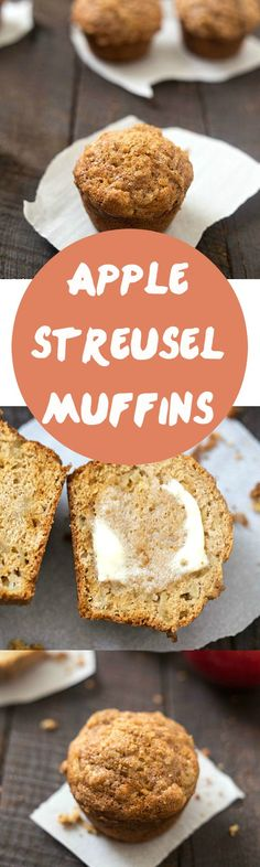 Apple Streusel Muffins - The perfect fall breakfast muffins for kids and adults! If you love apple streusel pie you are going to love these muffins. Add them to your muffin recipes!