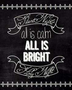 Chalkboard art quote DIY #crafts ToniK ⊱CհαƖҜ ℒЇℕ℮⊰ Silent Night #Christmas