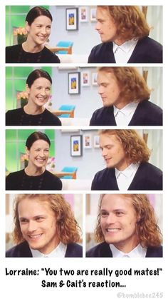 """You two are really good mates!"" Sam & Cait's cute reaction """