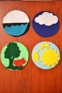 Bible Class Creations: Creation cds, kids add felt pices to each day
