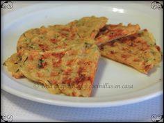 Una chapucillas y cocinillas en casa: Gofres de calabacin y patata sin huevo