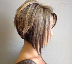 21 Adorable Asymmetrical Bob Hairstyles #BobHaircuts