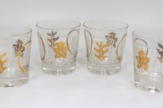 Mid Century Modern Glasses with White and by MidniteGalaxyVintage, $26.99