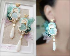 Soutache Earrings by Serena Di Mercione - Wings - swarovski elements