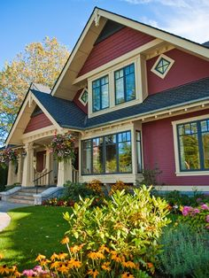 Exterior nice craftsman with a touch of quaint Victorian charm...
