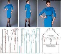 mid-sleeve sheath dress