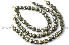 Semiprecious Stone, Pyrite Faceted Heart Beads, (Quality A+) / 8 to 9 mm / 18 cm / PY-006 / Gemstone Beads For Bracelet and Necklace Purpose by beadsogemstone on Etsy #pyritebeads #heartbeads #gemstonebeads #semipreciousstones #semipreciousbeads #briolettes #jewelrymaking #craftsupplies #stones #beads