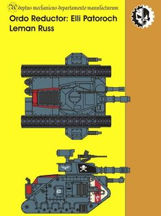Warhammer 40K - Ordo Reductor Leman Russ Tank Free Paper Model Download…