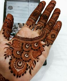 Browse the latest Mehndi Designs Ideas and images for brides online on HappyShappy! We have huge collection of Mehandi Designs for hands and legs, find and save your favorite Mehendi Design images. Dulhan Mehndi Designs, Mehandi Designs, Mehndi Designs 2018, Mehndi Designs For Girls, Mehndi Designs For Beginners, Modern Mehndi Designs, Mehndi Design Pictures, Wedding Mehndi Designs, Beautiful Mehndi Design