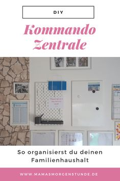 Bring order and structure into your family with the command center. As it f … - Bestdiyprojects Your Family, Family Life, Family Structure, Budget Planer, Family Organizer, Life Organization, Housekeeping, Bring It On, How To Plan