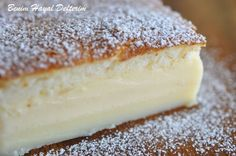 A Magic Cake Recipe - Turkish Recipes Easy Vanilla Magic Custard Cake, Vanilla Cake, Cakes Originales, Magic Cake Recipes, Magic Recipe, Cheesecake Brownie, Easy Desserts, Dessert Recipes, Yummy Recipes