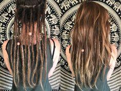 hippie hair wraps Braid idea instead of dreads Braid idea instead of dreads Dread Braids, Braids For Long Hair, Half Dreads, Partial Dreads, Dreads Styles, Curly Hair Styles, Dreadlock Hairstyles, Braided Hairstyles, Hair And Beauty