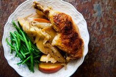 How To Make Chicken Normandy, Chicken with Apples, Brandy, Onions and Cream Recipe Main Dish Chicken Recipe