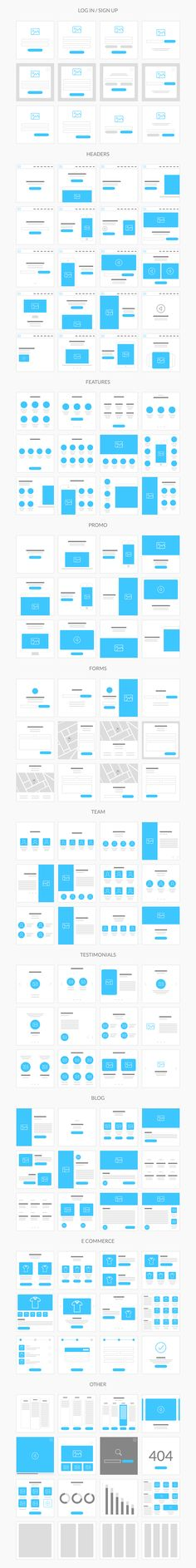 Flowy is made with fast workflow in mind, so we created 236 ready to use templates, built on the 1170 grid and in Photoshop file format. You can create flowcharts for both mobile and web projects of any complexity and show them to your team or clients. Web And App Design, Minimal Web Design, Layout Design, Design Sites, Interaktives Design, Web Design Tips, The Design Files, Web Layout, Tool Design