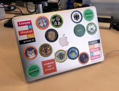 Laptop with patches