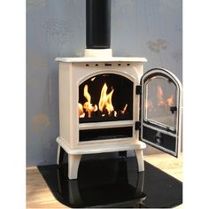 wood-burning stoves in white White Enamel, Stoves, Wood Burning, Home Appliances, Stoves Cookers, Domestic Appliances, Kitchen Appliances, Skillets, Ovens