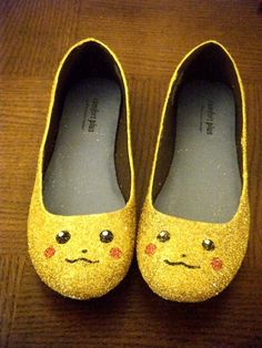 PIKA PIKA! Seriously... How could one be sad wearing these shoes? Hilarious! :)