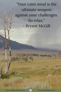 """Your calm mind is the ultimate weapon against your challenges. So relax."" - Bryant McGill #MDI"