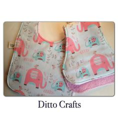 Bib and Burp cloth set. From ditto crafts on Made it