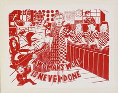 A Womans Work Is Never Done | See Red Women's Workshop | V&A Search the Collections