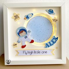 Pop Up Frame, Personalised Gifts Handmade, Baby Frame, Bee Gifts, Scrap, Shadow Box Frames, Newborn Gifts, Baby Prints, New Baby Gifts