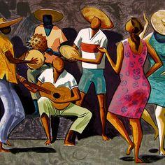 Héctor Julio Páride Bernabó, Carybé (1911-1997), argentino-brasileño. Sus obras tienen el típico colorido de la moderna pintura brasileña. El color está empleado para acentuar los rasgos de la cultura popular del país: una fuerte energía vital, un ritmo propio en el movimiento, una marcada sensualidad, un peculiar  modo de ser.