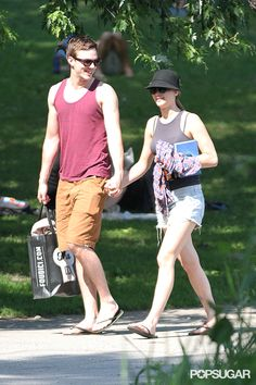 Jennifer Lawrence and Nicholas Hoult at the Park GIFs!