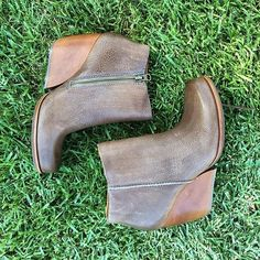 Kork-Ease™ 'Natalya' Burnished Leather Demi Wedge Boot (Women) | Nordstrom