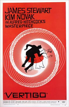Saul Bass' iconic Vertigo Poster | Mesmerizing GIF Movie Posters Bring Life To Iconic Images
