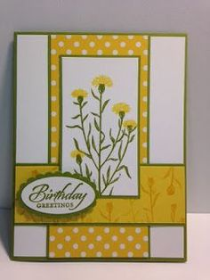Wild about Flowers, Wetlands, Birthday Card, Stampin' Up!, Rubber Stamping, Handmade Cards