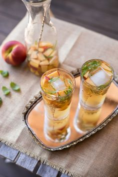 Peach Basil Sangria / Forest Feast