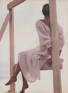 Calvin Klein ad campaign, 1985 | Josie Borain photographed by Bruce Weber