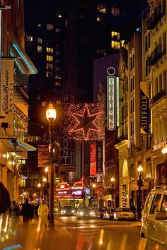 Theater District in Boston ... great shows and niteclubs there.