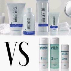 WHAT IS THE DIFFERENCE BETWEEN PROACTIV AND UNBLEMISH? Yes, they were created by the same two Stanford trained dermatologists Dr. Rodan and Dr. Fields! ✔Proactiv is salicylic acid based. It was created primarily with teenagers in mind, knowing that most teenagers do not wash their face daily, and therefore would not use the product consistently. ✔UNBLEMISH is sulfur based.