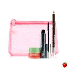 Clinique Power Lashes Mascara Set: 1x Lash Power Mascara, 1x All About Eyes Rich, 1x Cream Shaper For Eyes, 1x Bag 3pcs+1bag #Clinique #MakeUp #EyeSet #Valentine #FREEShipping #StrawberryNET #Giveaway #GiftSet
