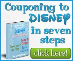 """Couponing to Disney"" is a site where you can find unique and creative ways to save and earn money and use the savings to fund your trip to Disney. Coupons to print a free binder to print and much more."