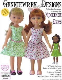 Mackenzie Dress for Hearts For Hearts and Les Cheries Dolls