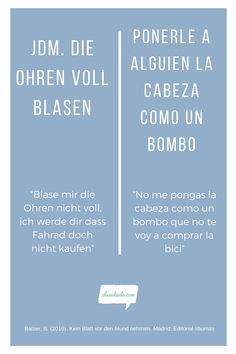 Frases hechas Alemán /español. Encuentra material para aprender español en nuestra Web! Jdm, Ideas, Learning Spanish, Spanish Class, Bubbles, Japanese Domestic Market, Thoughts