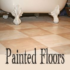 Oh boy, do I LOVE a painted floor!  I have painted at least one floor in every house we have owned.